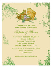 Woodland Pooh Classic Pooh Baby Shower Invitations