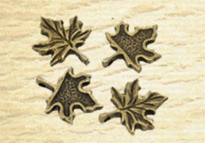 MAPLE LEAF Antique bronze colored charm jewelry pendants wholesale bulk - FREE SHIPPING