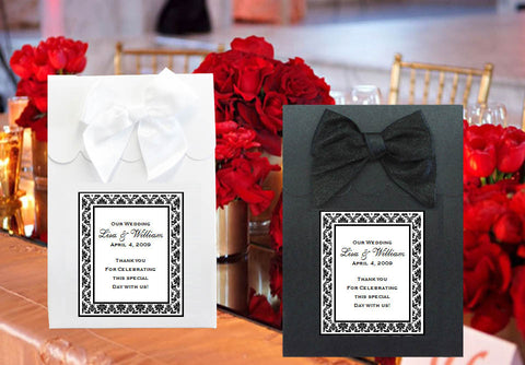 Damask Wedding Candy Shoppe Boxes Bags Totes
