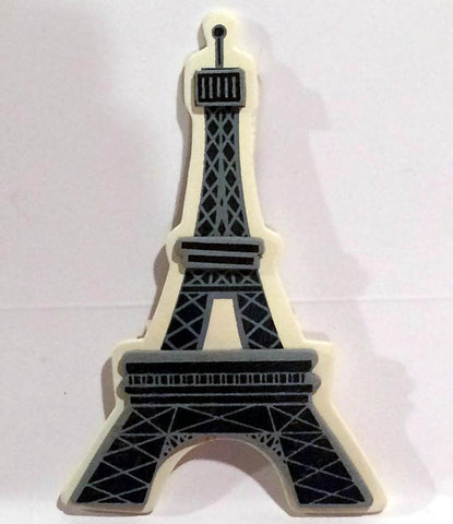 Paris French Eiffel Tower Painted Wood Diaper Cake Topper