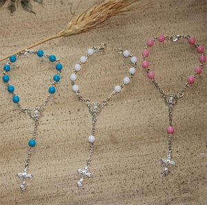Communion Confirmation Blue Rosary Embossed 42 Rosary Favor Cake Centerpiece