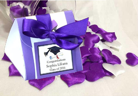 Graduation Party DIY Origami Favor Boxes