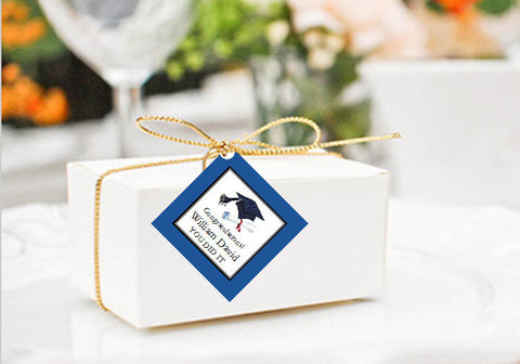 Graduation Party Square Favor Gift Tags