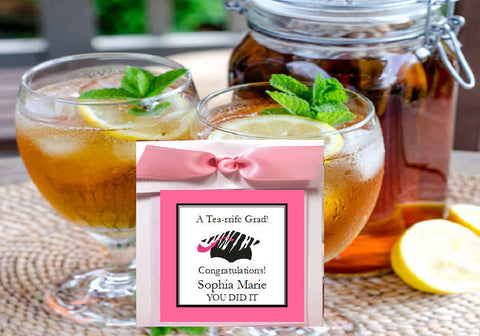 Graduation Party Hot or Cold Brewed Tea Bag Favors