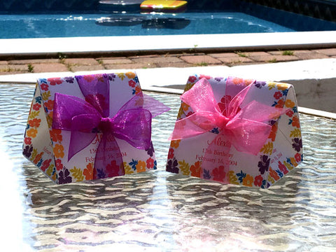 Hibiscus Tropical Wedding Origami Favor Boxes