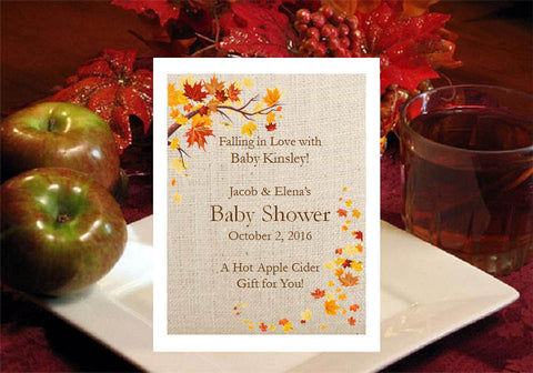 Autumn Fall Baby Shower Hot Apple Cider Favors