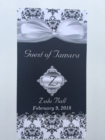 Zulu Ball Gift Tags and Wine Labels