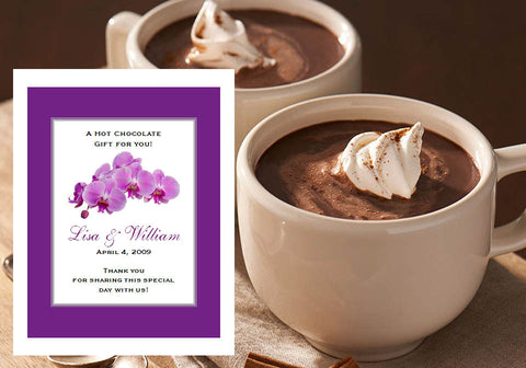 Orchid Tropical Hot Chocolate Cocoa Party Favors