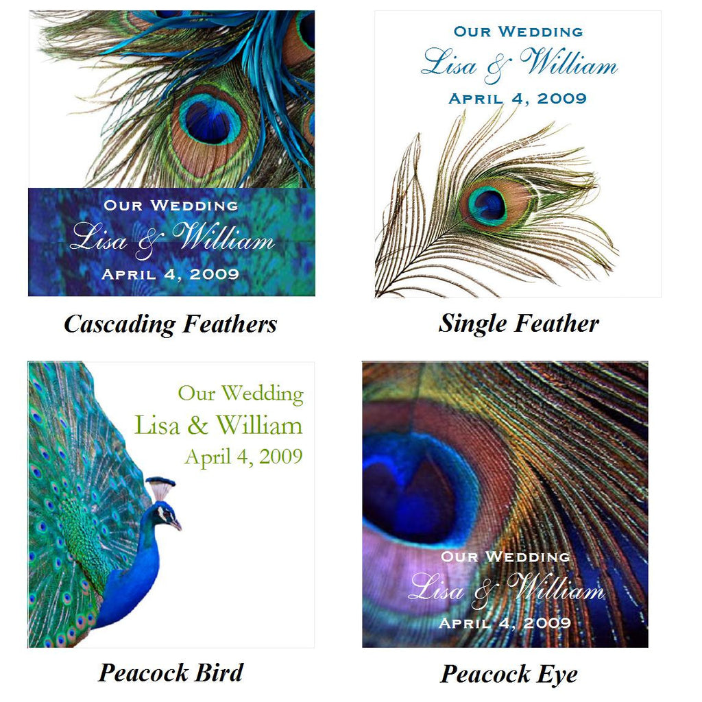 Peacock Wedding Gifts: Peacock Wedding Favor Boxes