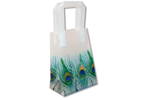 Peacock Feathers Wedding Frosted Bags Totes - Small