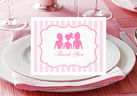 Think Celebrate Wear Pink Ribbon Thank You Cards