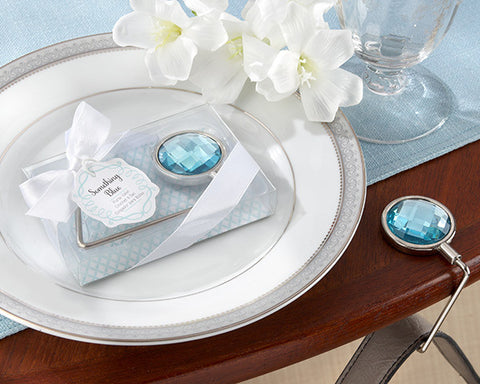 Breakfast at Diva's Something Blue Bling Purse Valet Favors