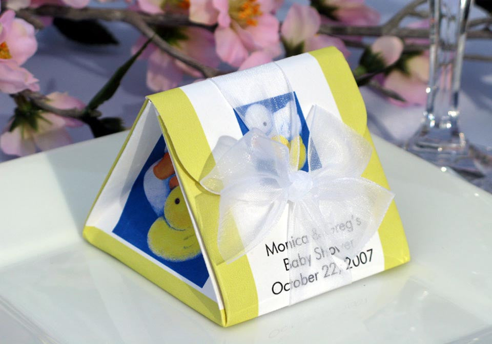 Duck Baby Shower Rubber Ducky Origami Favor Boxes Pavia Party Favors
