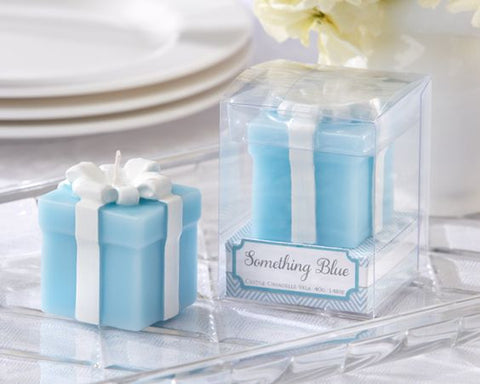 SOMETHING BLUE Wedding Bridal Shower Boxed Gift Candle Favors - only 40 left