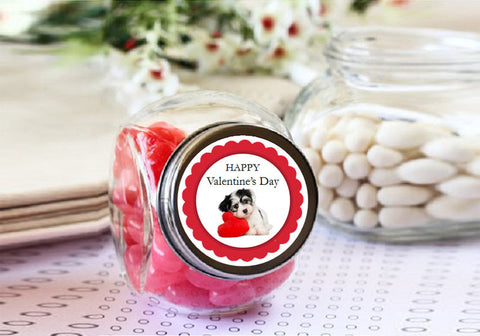 Valentine's Day Party Mini Glass Candy Jars Favors