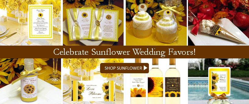 Shop Sunflower Wedding Favors