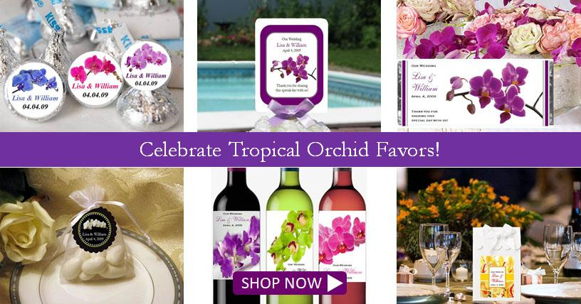 Shop Orchid Tropical favors