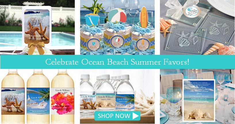 personalized Ocean Beach Summer favors