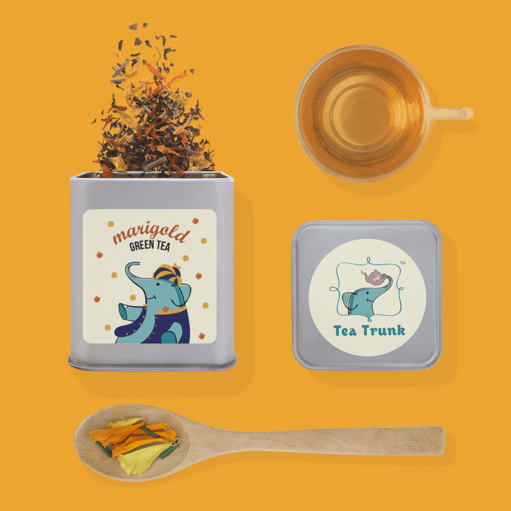 Marigold and Lemongrass Green Tea: Inspired from Indian Weddings
