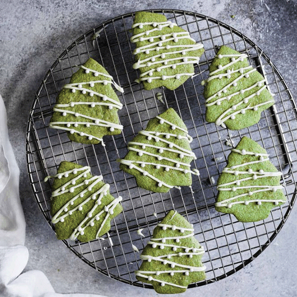 Matcha Christmas Cookies