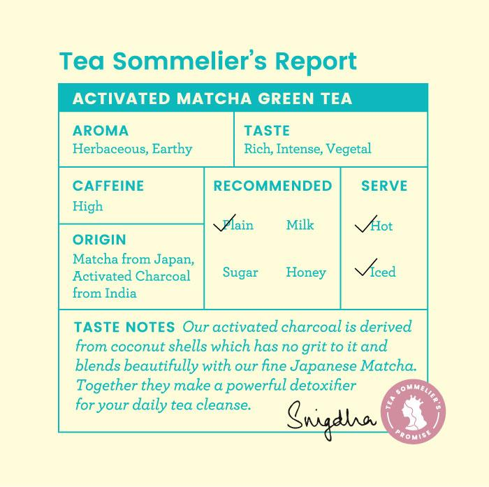 Activated Charcoal Matcha Green Tea