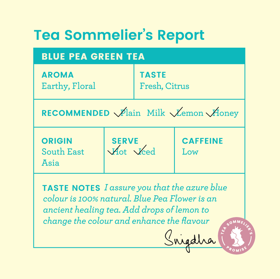 Blue Pea Green Tea - Tea Trunk