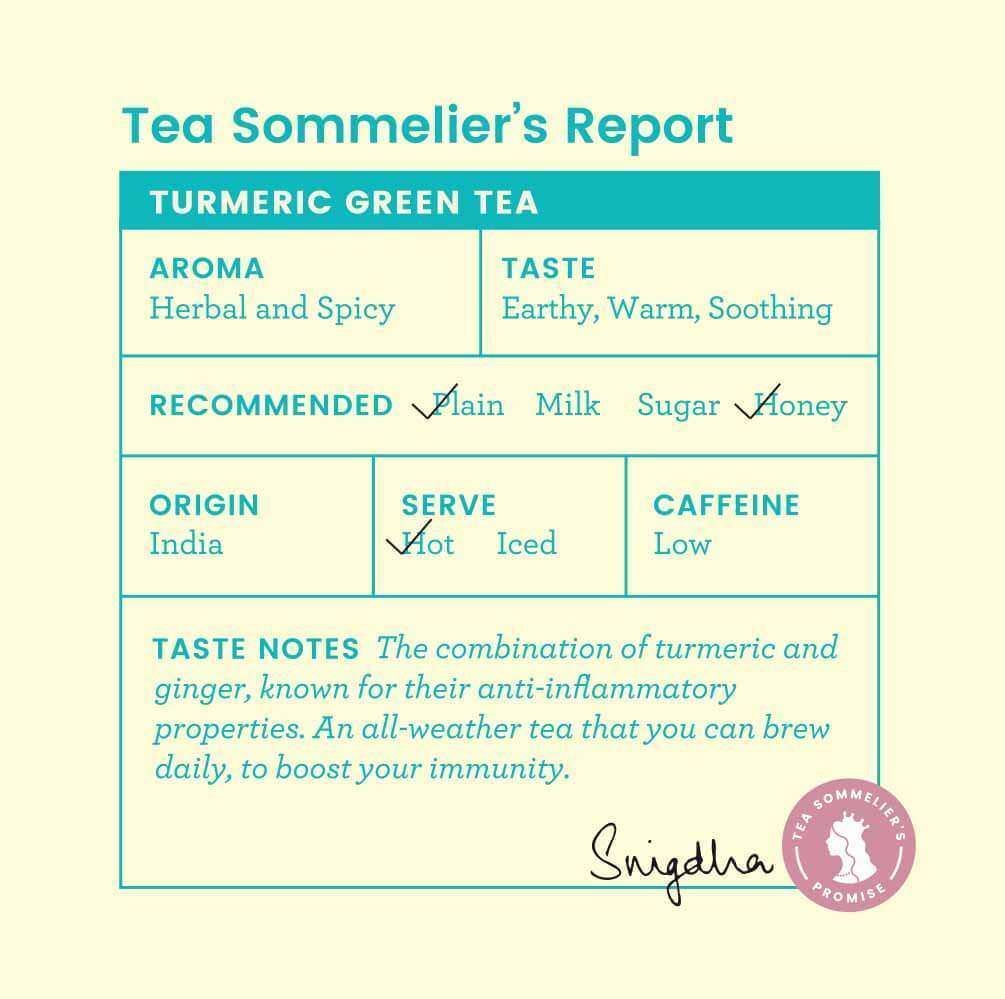 Turmeric Green Tea - Tea Trunk