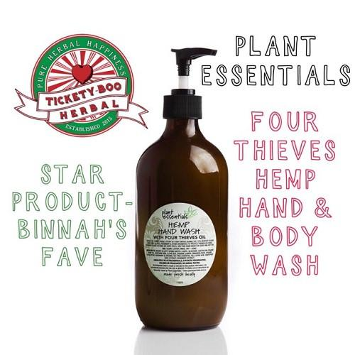 FOUR-THIEVES HEMP HAND & BODY WASH... BY 'PLANT ESSENTIALS' ... $24 -500ML