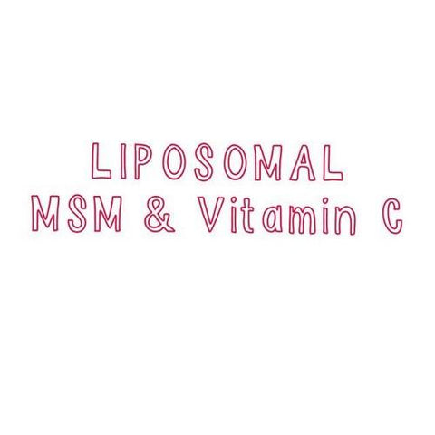 LIPOSOMAL MSM VITAMIN C -250ML@$20, 1L@$60 ***NEW SIZE-600ML@$40***