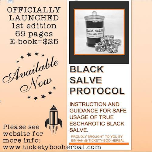 BLACK SALVE PROTOCOL - $25 ....... NOW AVAILABLE IN PRINTED VERSION