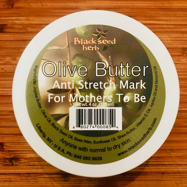 OLIVE PREGNANCY BELLY-BUTTER W/ BLACK SEED OIL @$23-120ML