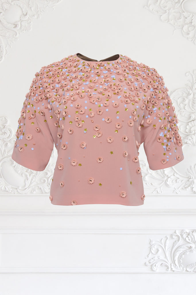 Sequin Flower Top