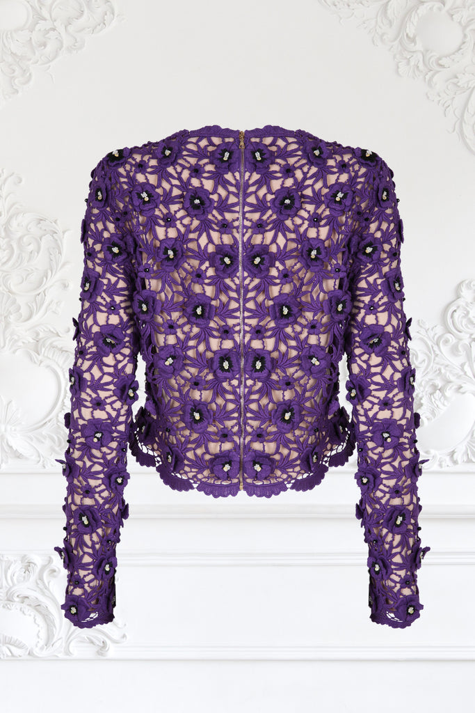 Guipure Lace Pansy Sweater