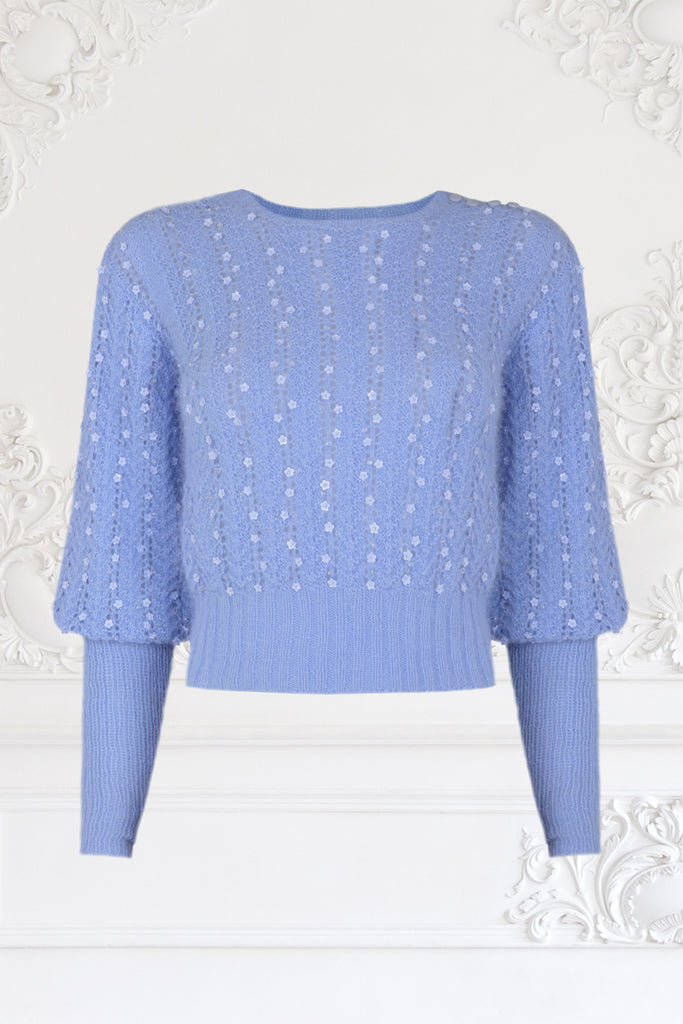 Beaded Mink Hair Knitted Sweater