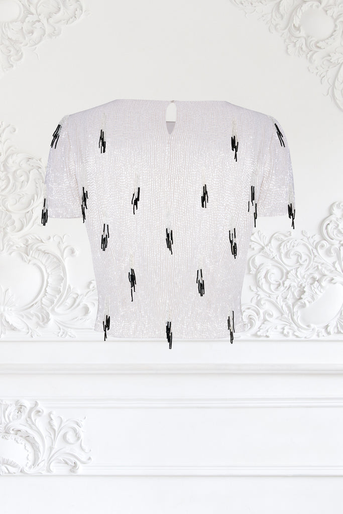 Beaded Ermine Top