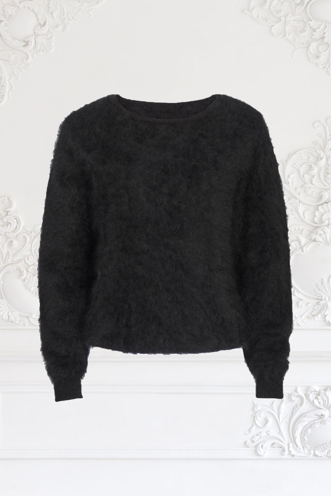 Loose-fit cashmere mink sweater