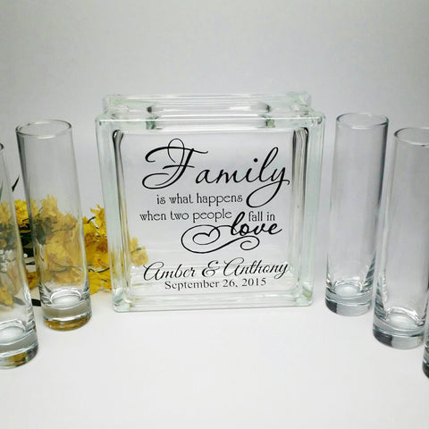 Blended Family Wedding Sand Ceremony Personalized Beach Wedding Decor Unity Candle Alternative Family Is What Happens When