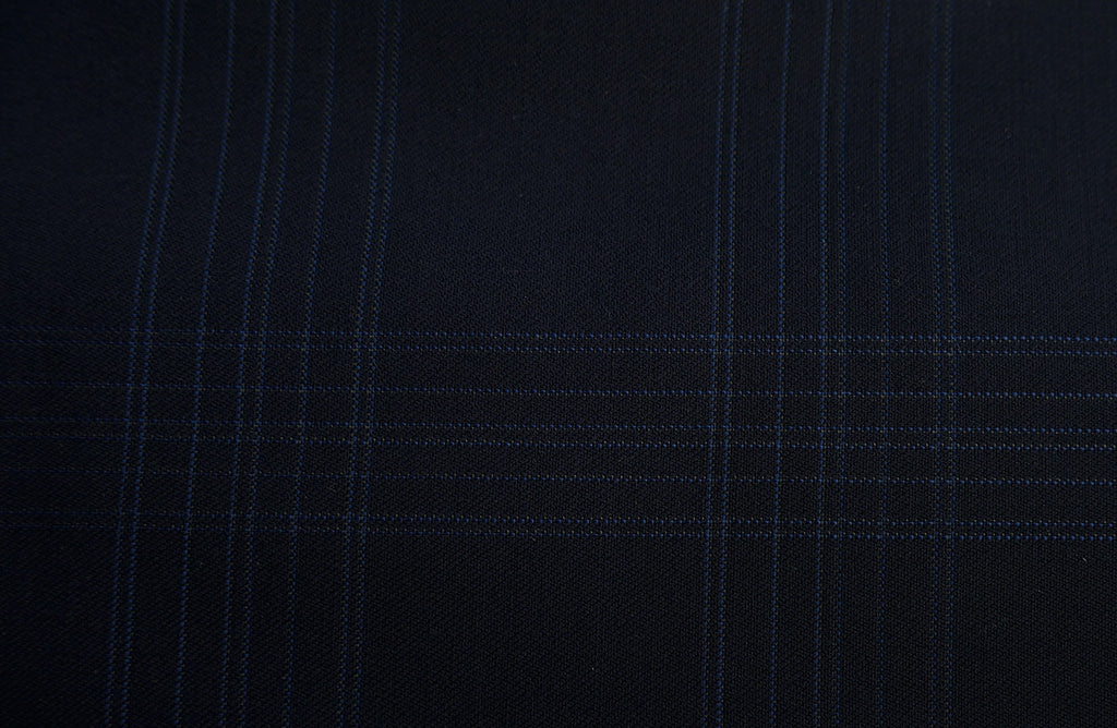 Blue with blue check, by Vitale Barberis Canonico.