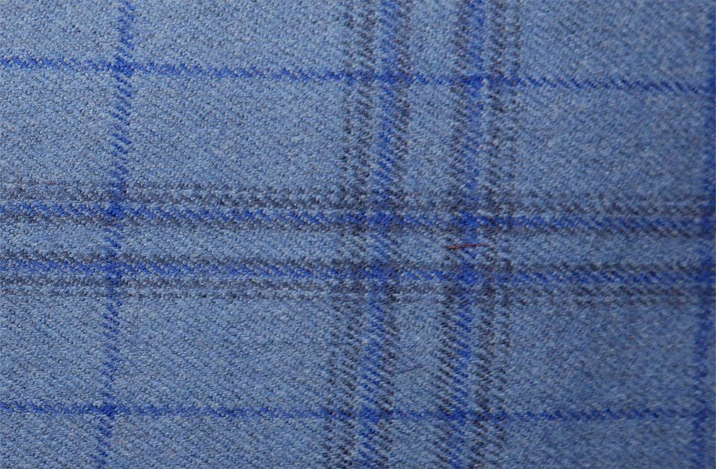 Blue multi check, by Holland & Sherry
