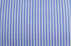 White with blue stripe, by Poplin