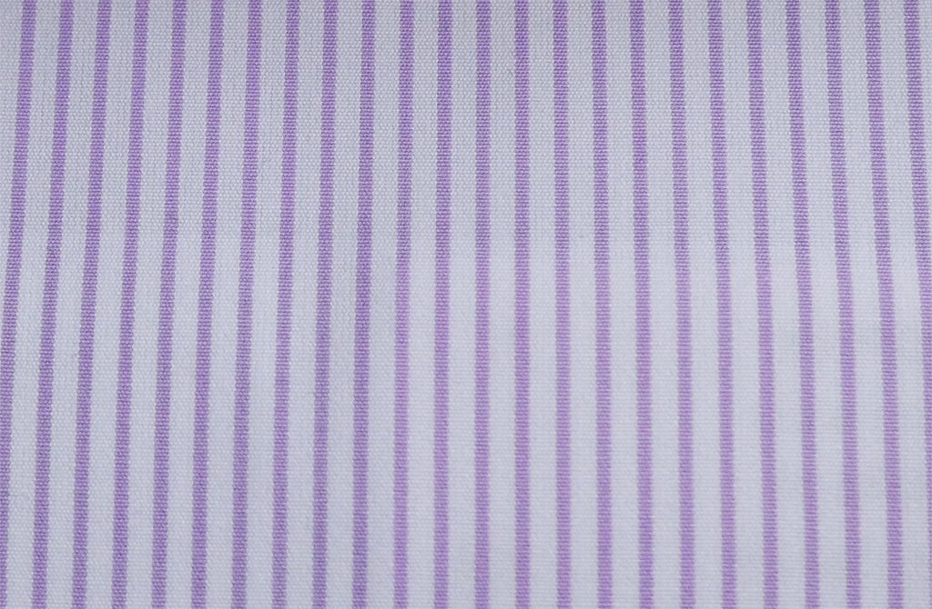 White with purple stripe, by Poplin