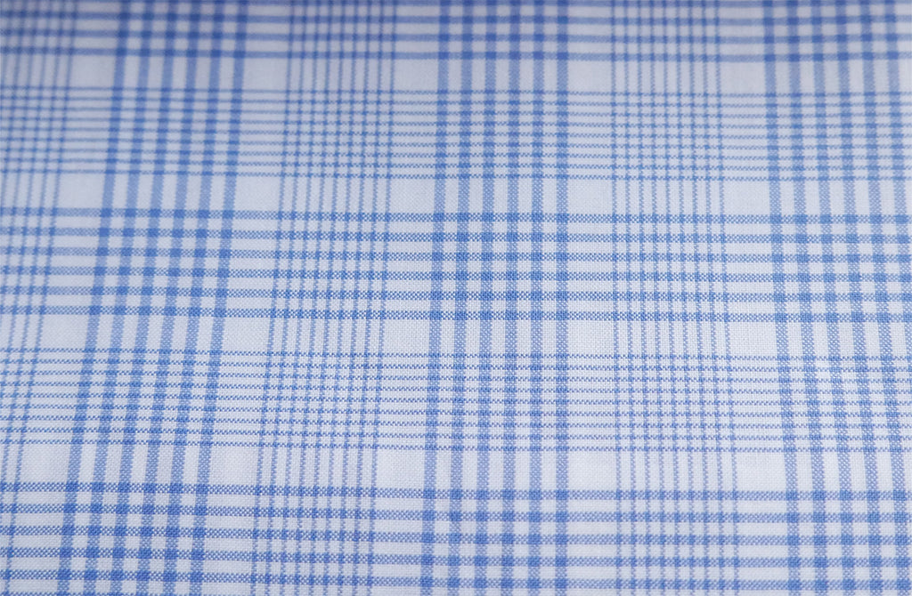 Blue and white checks, by Zephir