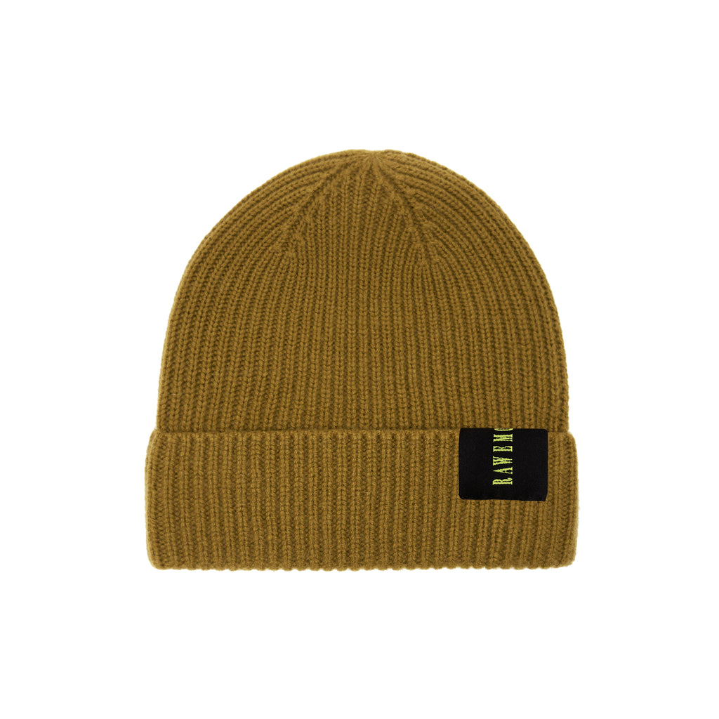 Beige Rawemotions Label Knit Beanie