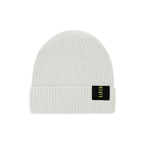 Olive Logo Label Knit Beanie