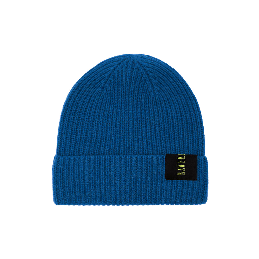Royal Blue Logo Label Knit Beanie