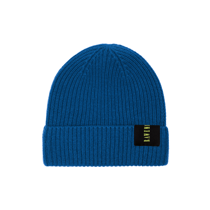 Seal Blue Logo Label Knit Beanie