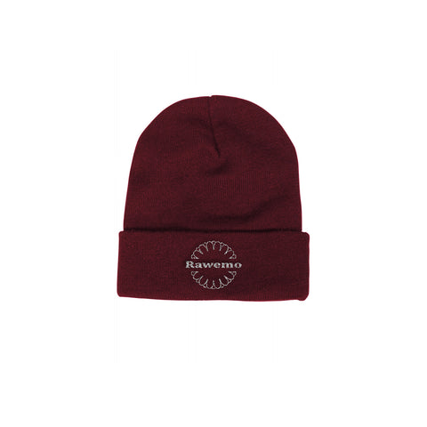 Black Logo Label Knit Beanie