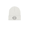 Beige Logo Label Knit Beanie