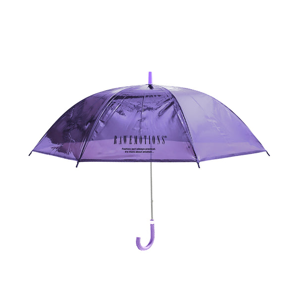 Purple Rawemotions Logo Clear Umbrella