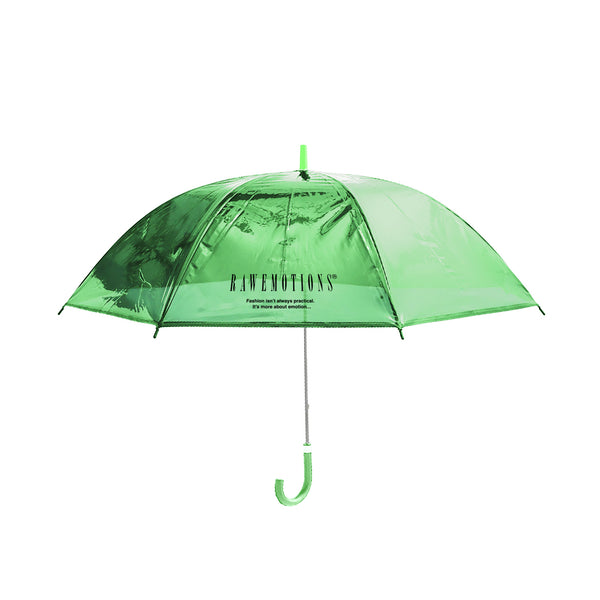 Green Rawemotions Logo Clear Umbrella